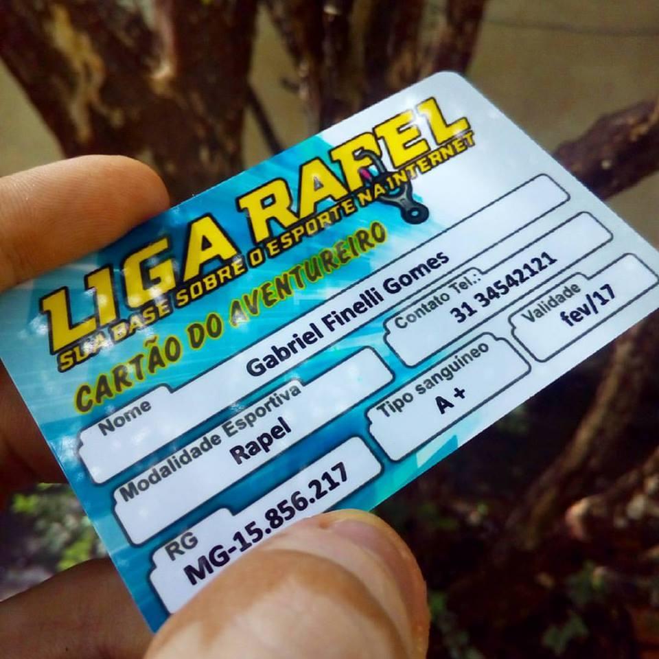 Cartão do Aventureiro Liga Rapel
