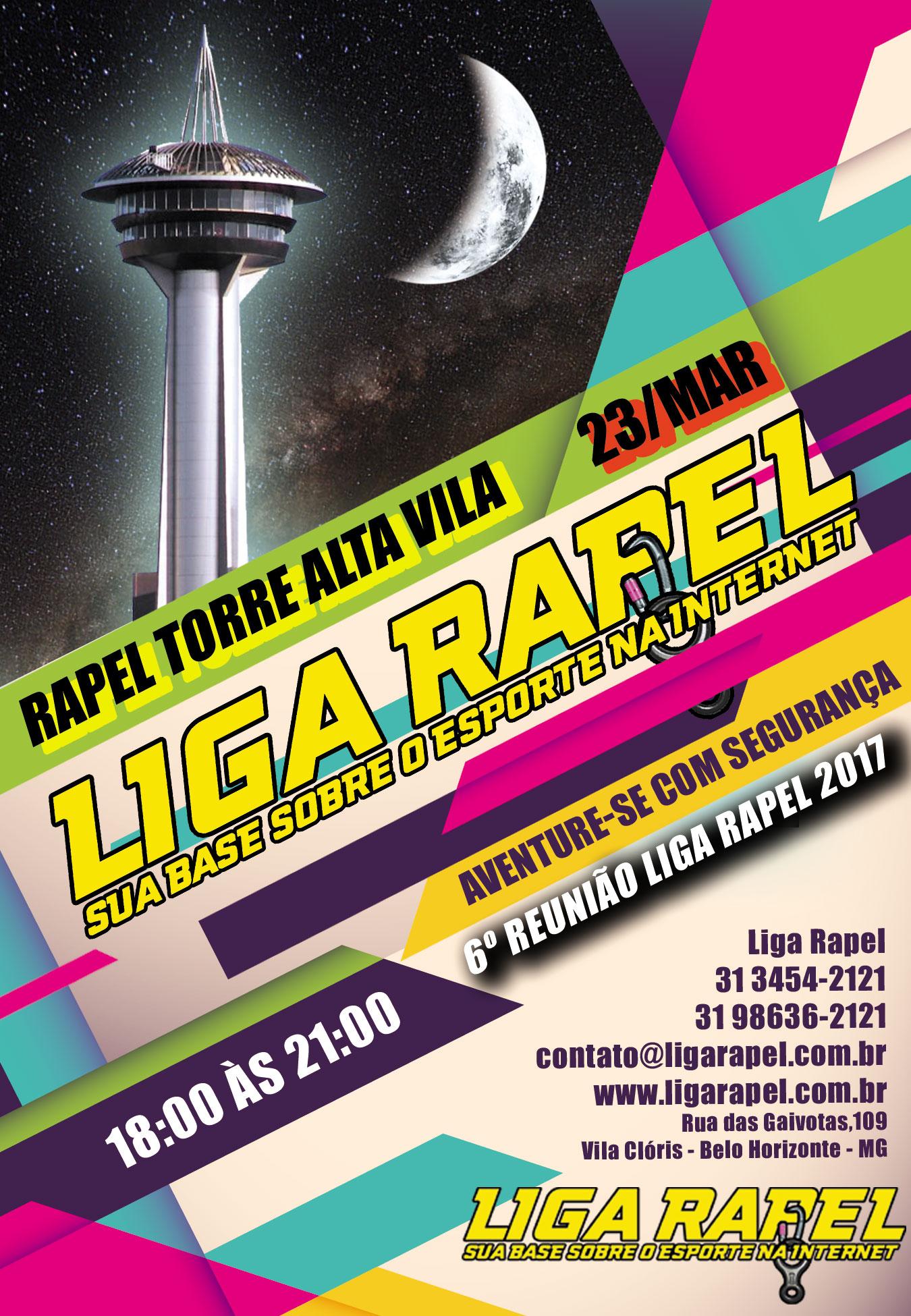 6º Reunião Liga Rapel – 2017 – Torre Alta Vila – Nova Lima – MG (Inscrições esgotadas)
