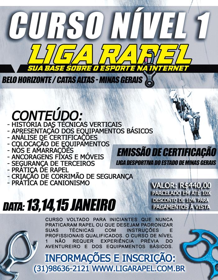 Curso Liga Rapel Nível 1 – 2017 – Janeiro