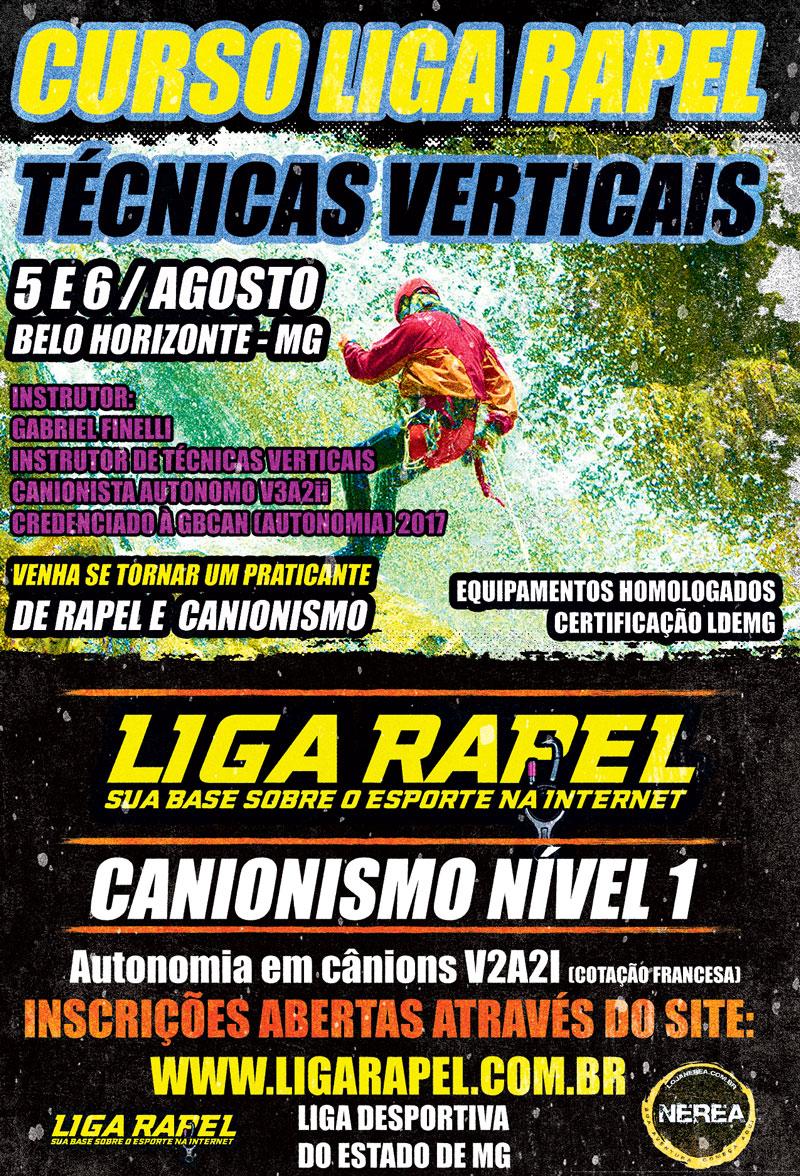 Curso Canionismo Nível 1 – Liga Rapel – Técnicas Verticais