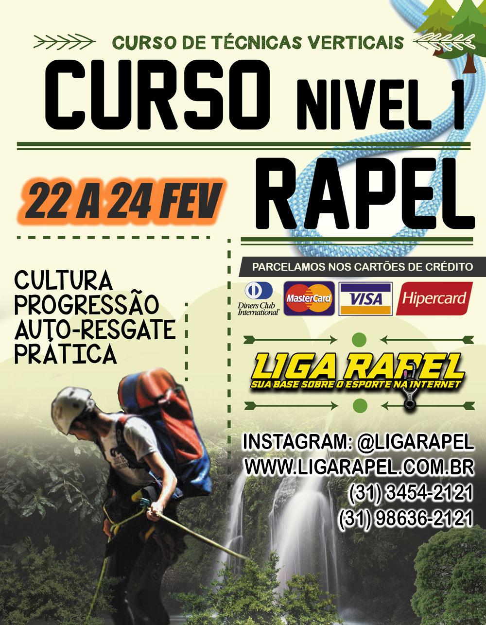 Curso de Rapel Nível 1 – Belo Horizonte/Catas Altas