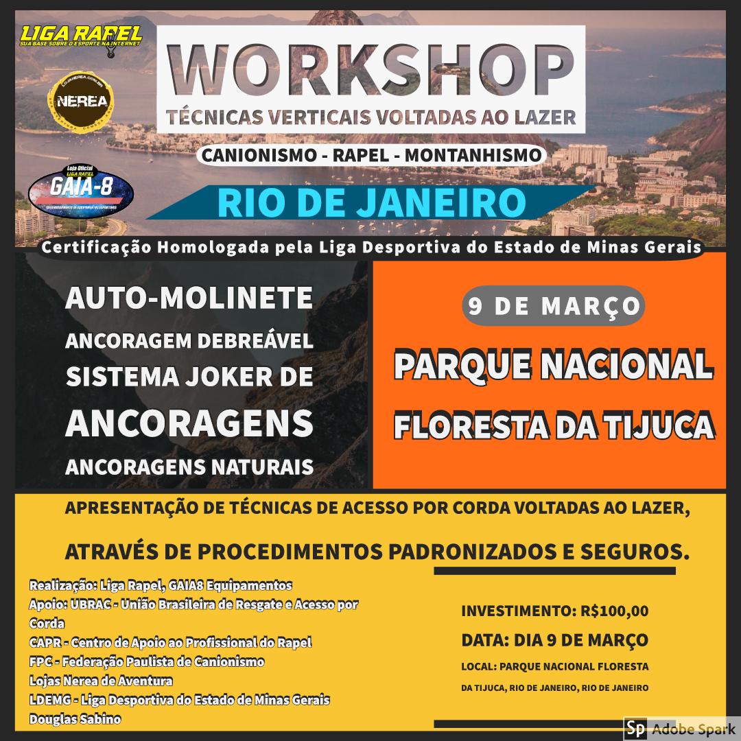 Workshop Técnicas Verticais – Rio de Janeiro