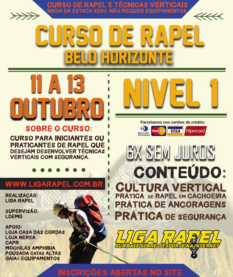 Curso Nível 1 Liga Rapel Belo Horizonte Outubro