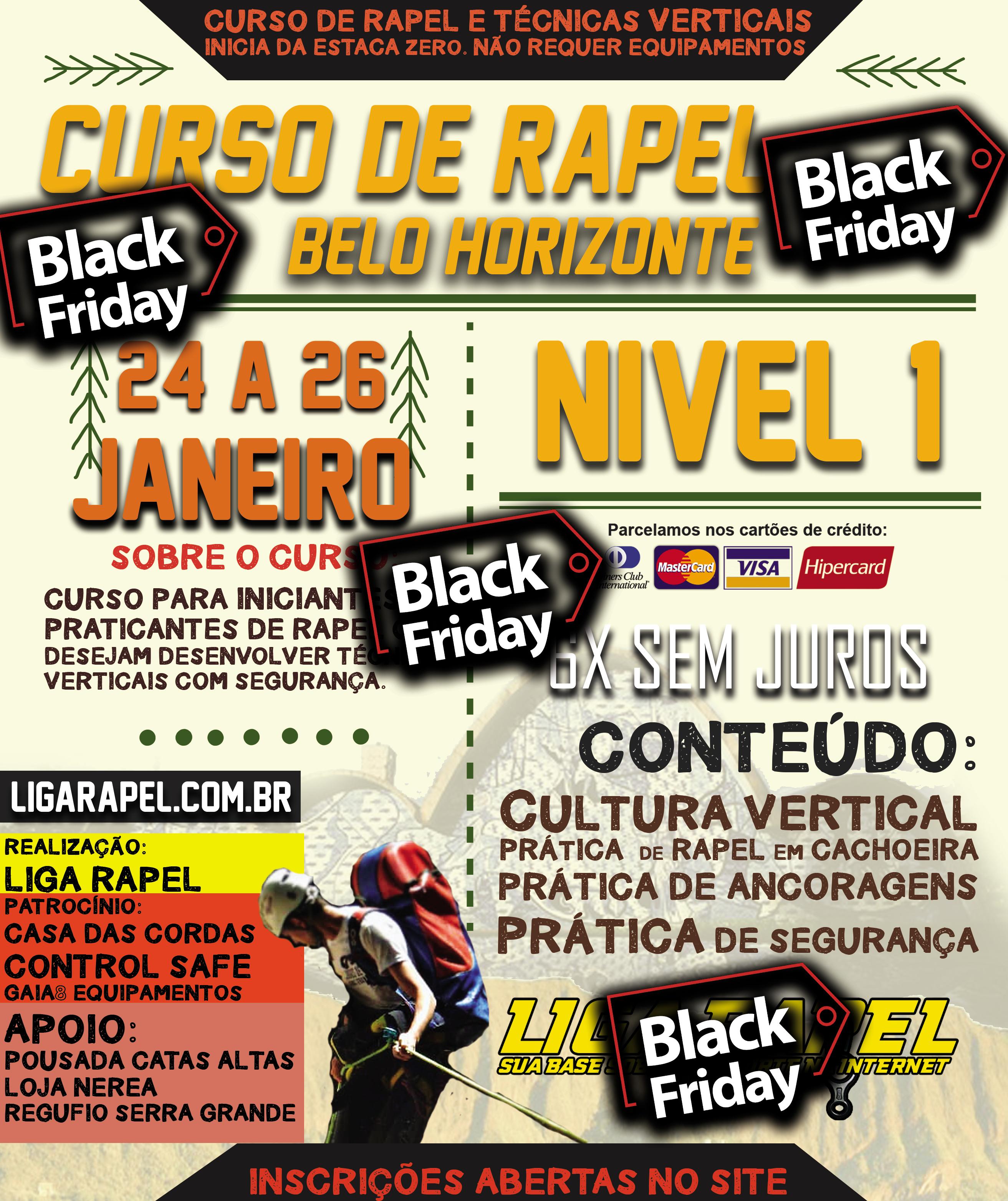 Curso de Rapel Nível 1 – Janeiro