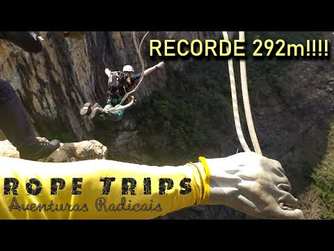 RopeJump Tabuleiro 292m com a RopeTrips! Recorde Latino Americano